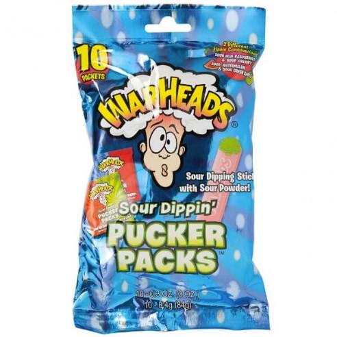 Warheads Sour Dippin Pucker Packs 10 Pack - 84 g